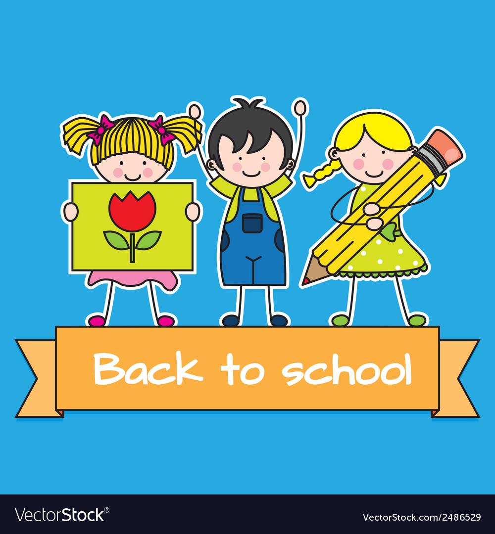 Children back to school vector