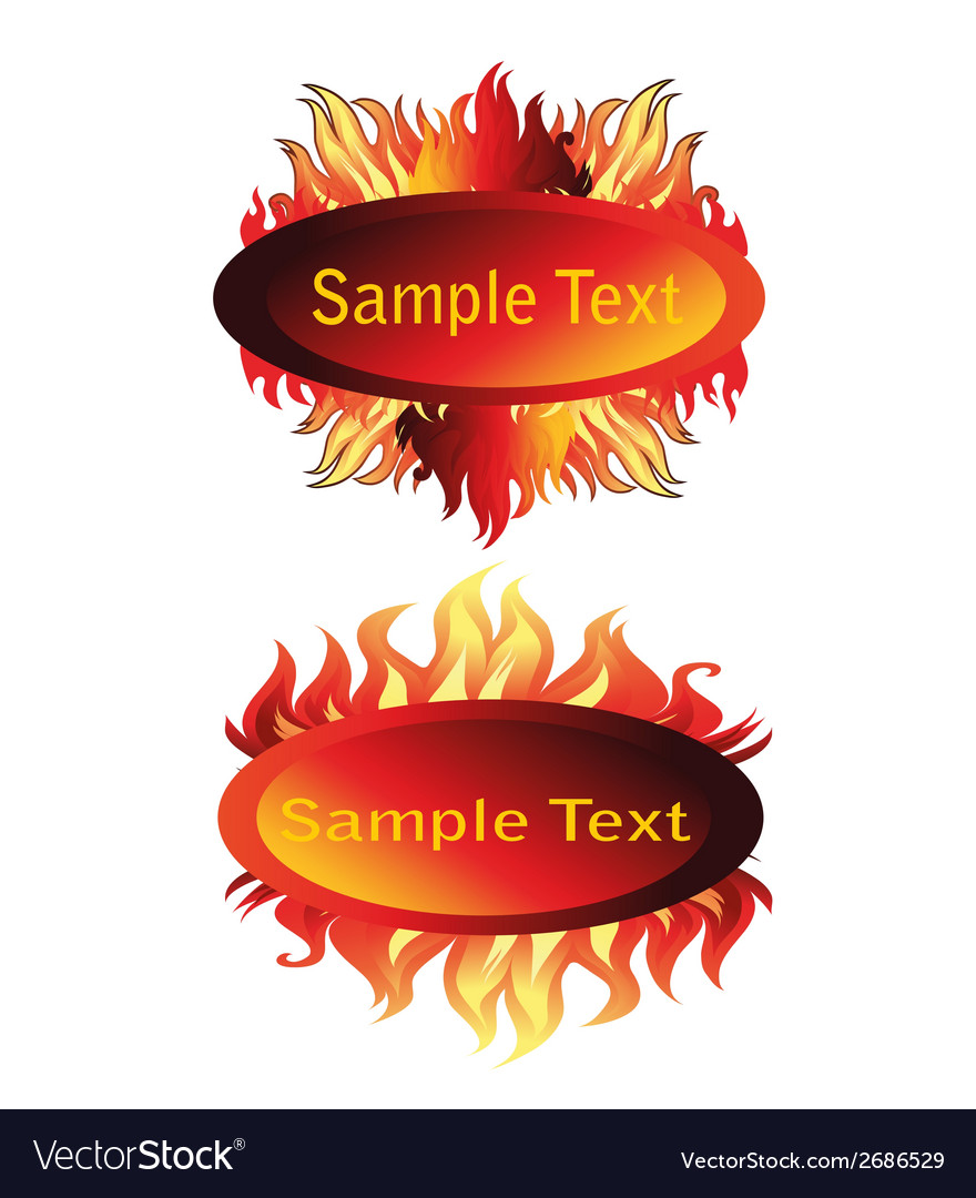 Fire and flame frame vector | Price: 1 Credit (USD $1)