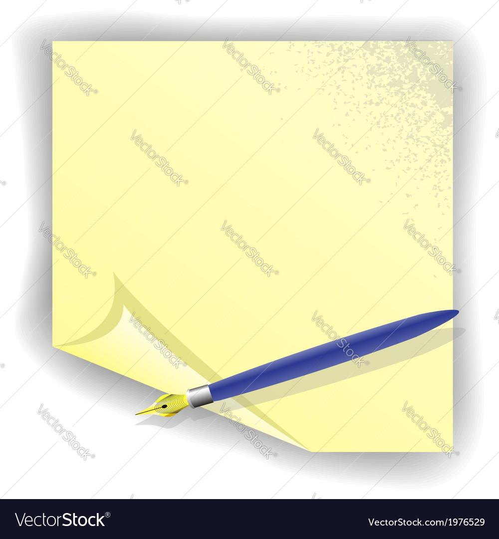 Fountain writing pen vector | Price: 1 Credit (USD $1)