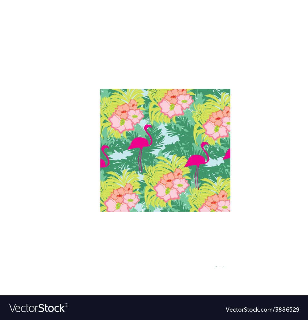 Seamless flamingo bird pattern vector   Price: 1 Credit (USD $1)