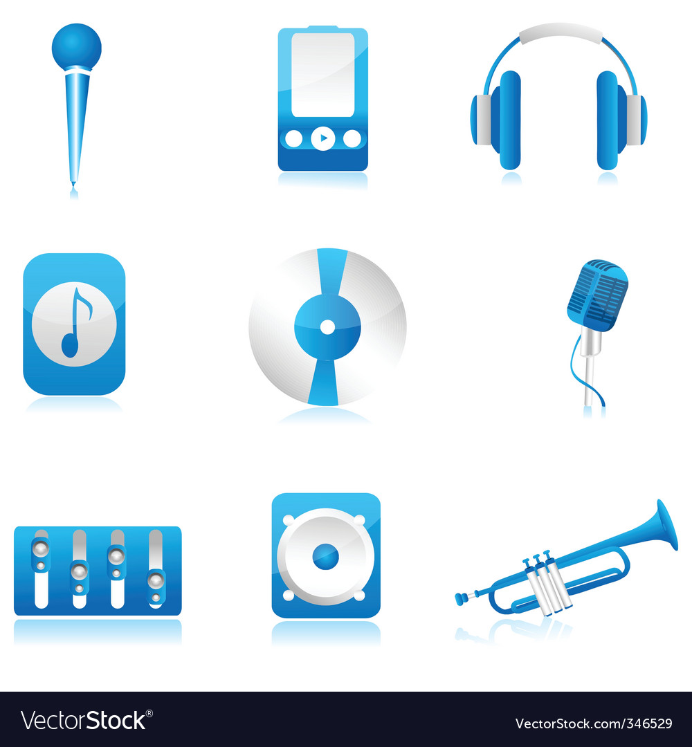 Set of musical component vector | Price: 1 Credit (USD $1)