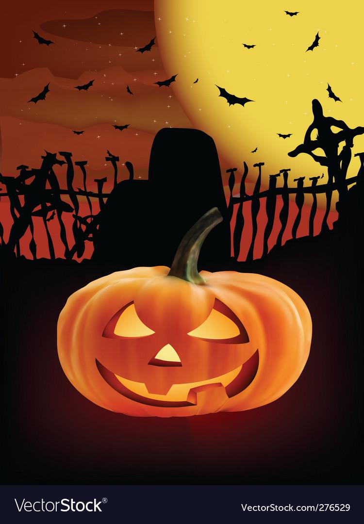 Spooky halloween composition vector | Price: 1 Credit (USD $1)