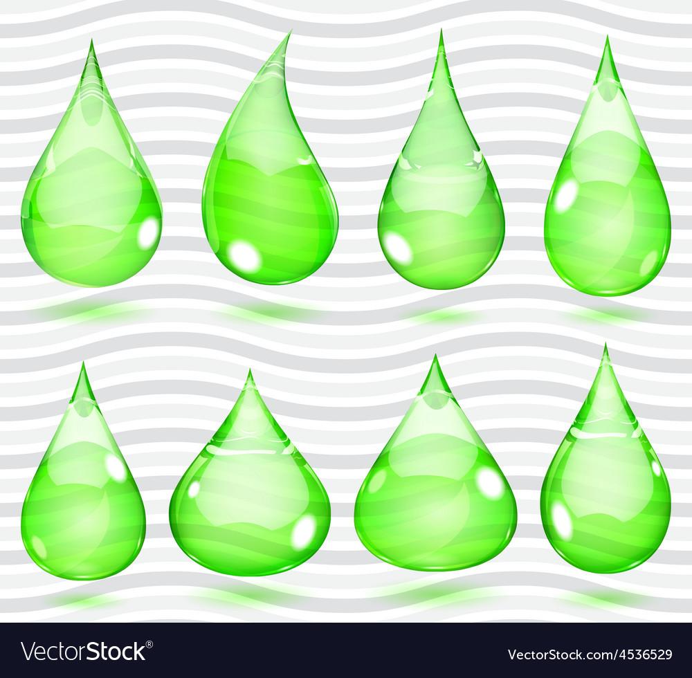 Transparent green drops vector | Price: 1 Credit (USD $1)