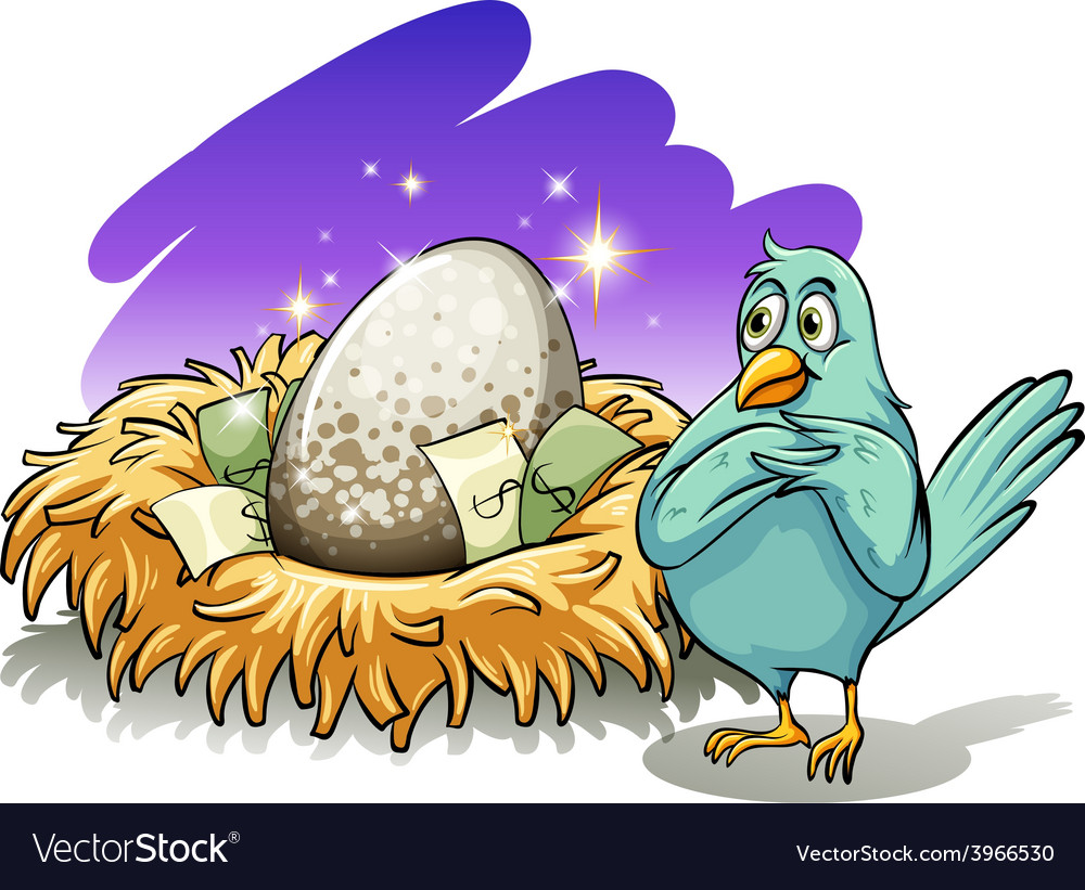 A bird beside the nest vector | Price: 1 Credit (USD $1)