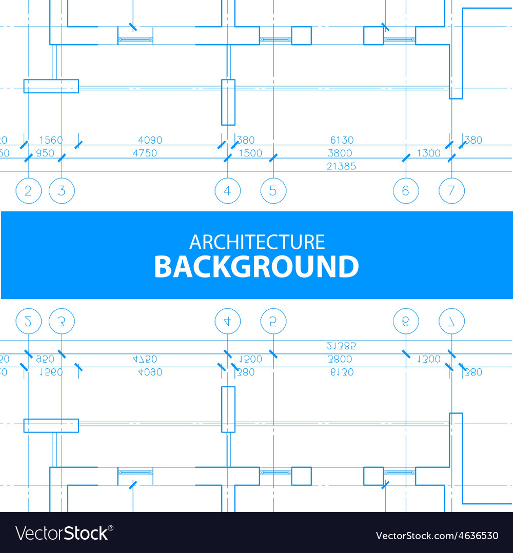 Architecture reflected blueprint background vector | Price: 1 Credit (USD $1)