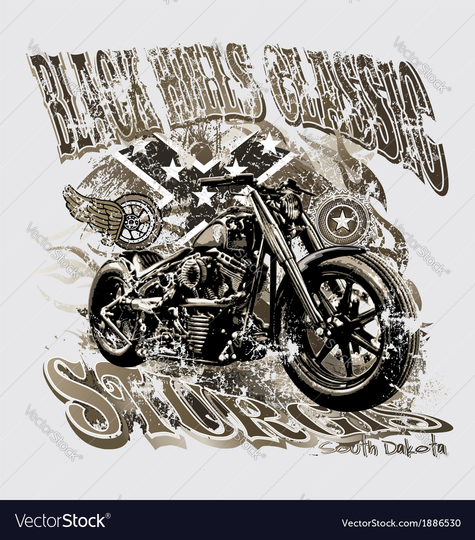 Blackhills sturgis motorcycle vector | Price: 5 Credit (USD $5)