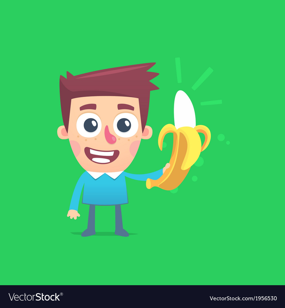 Bright life with bananas vector | Price: 1 Credit (USD $1)