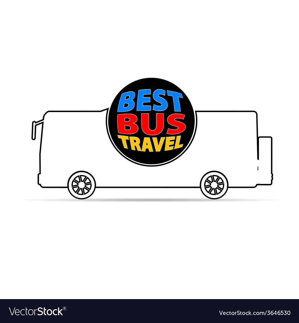 Bus travel color vector   Price: 1 Credit (USD $1)