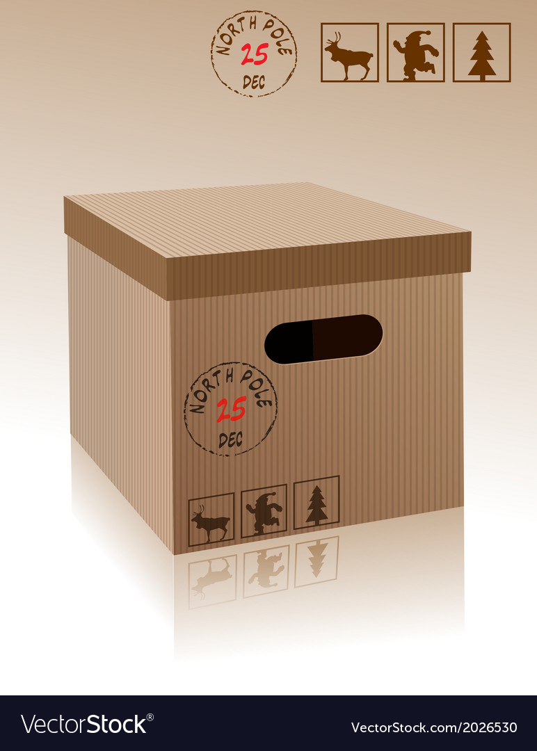 Christmas carboard box vector | Price: 1 Credit (USD $1)