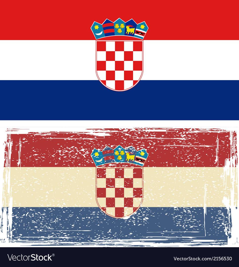 Croatian grunge flag vector   Price: 1 Credit (USD $1)
