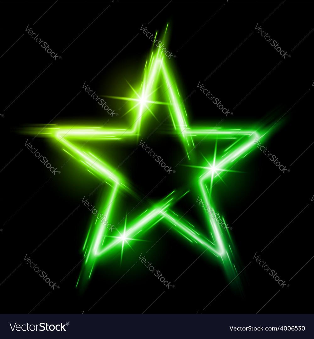 Neon star vector | Price: 1 Credit (USD $1)