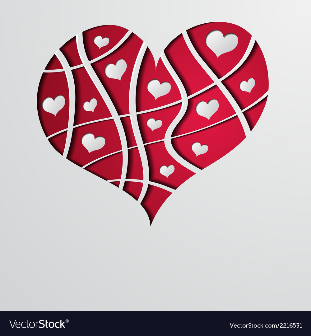 Abstract background with red strip heart vector | Price: 1 Credit (USD $1)