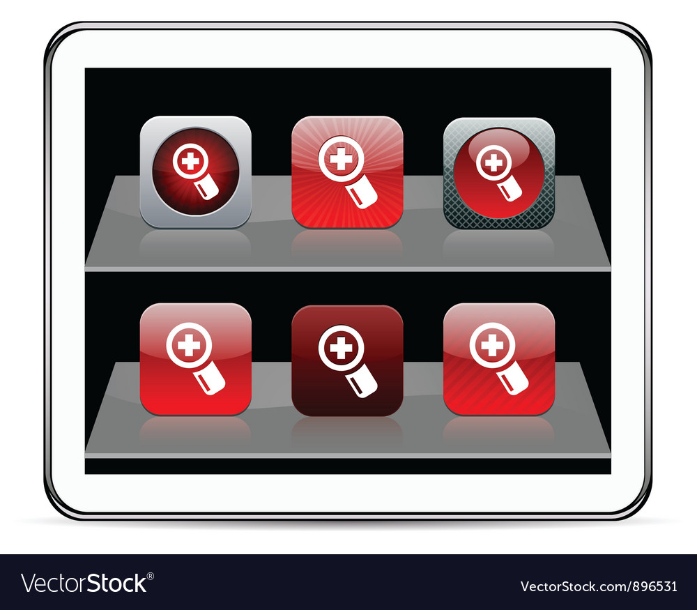 Add red app icons vector | Price: 1 Credit (USD $1)