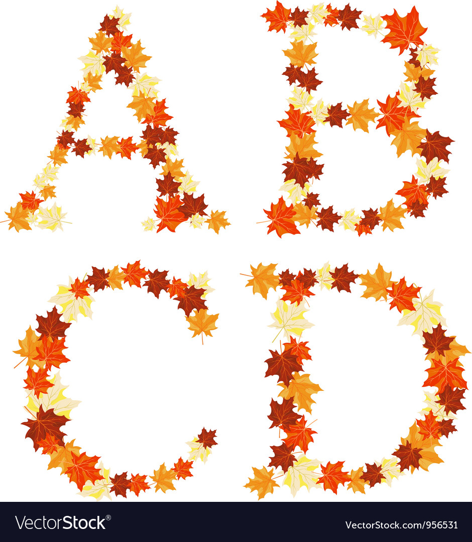 Autumn letter vector | Price: 1 Credit (USD $1)