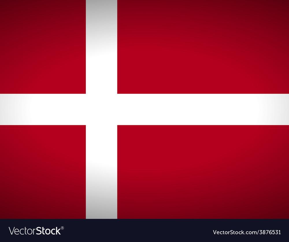 Flag of denmark vector | Price: 1 Credit (USD $1)