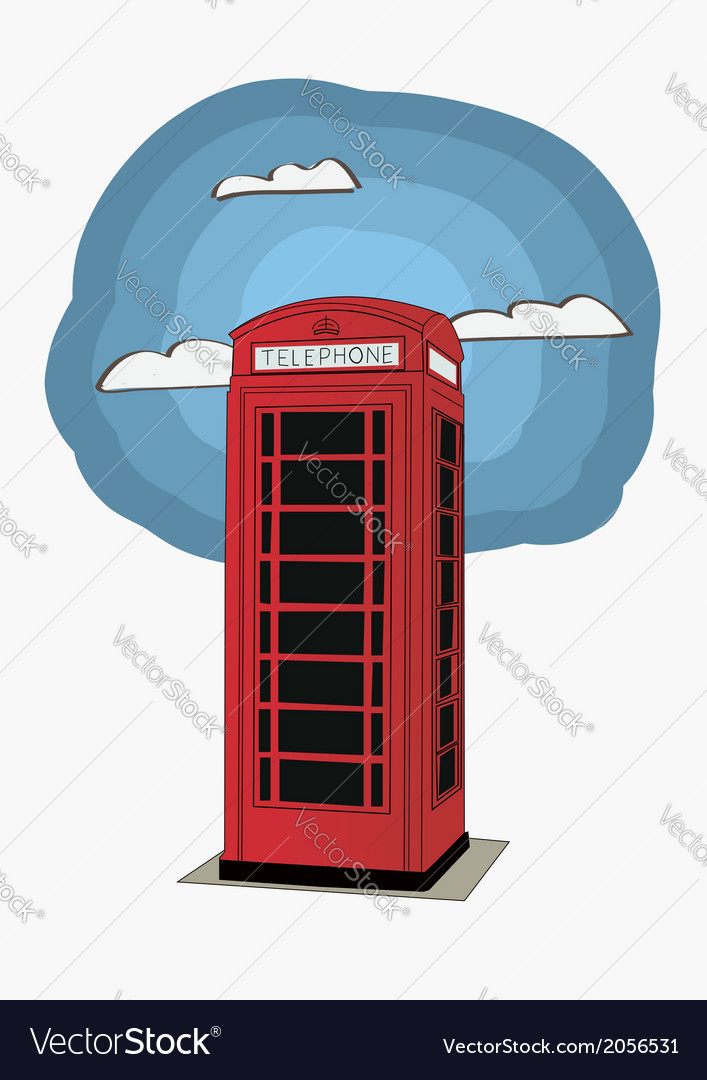 Red telephone box - london uk vector | Price: 1 Credit (USD $1)