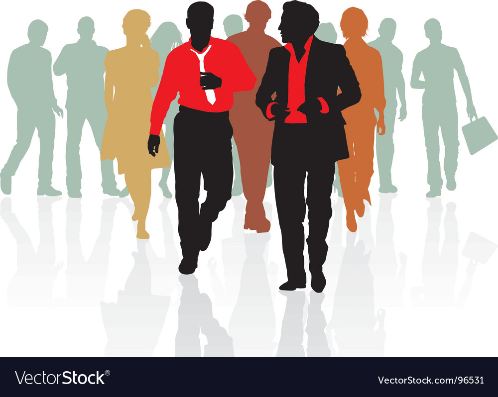 Sales team of young people vector | Price: 1 Credit (USD $1)