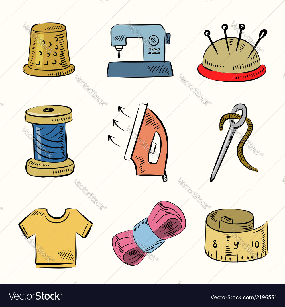 Sewing icon set vector   Price: 1 Credit (USD $1)