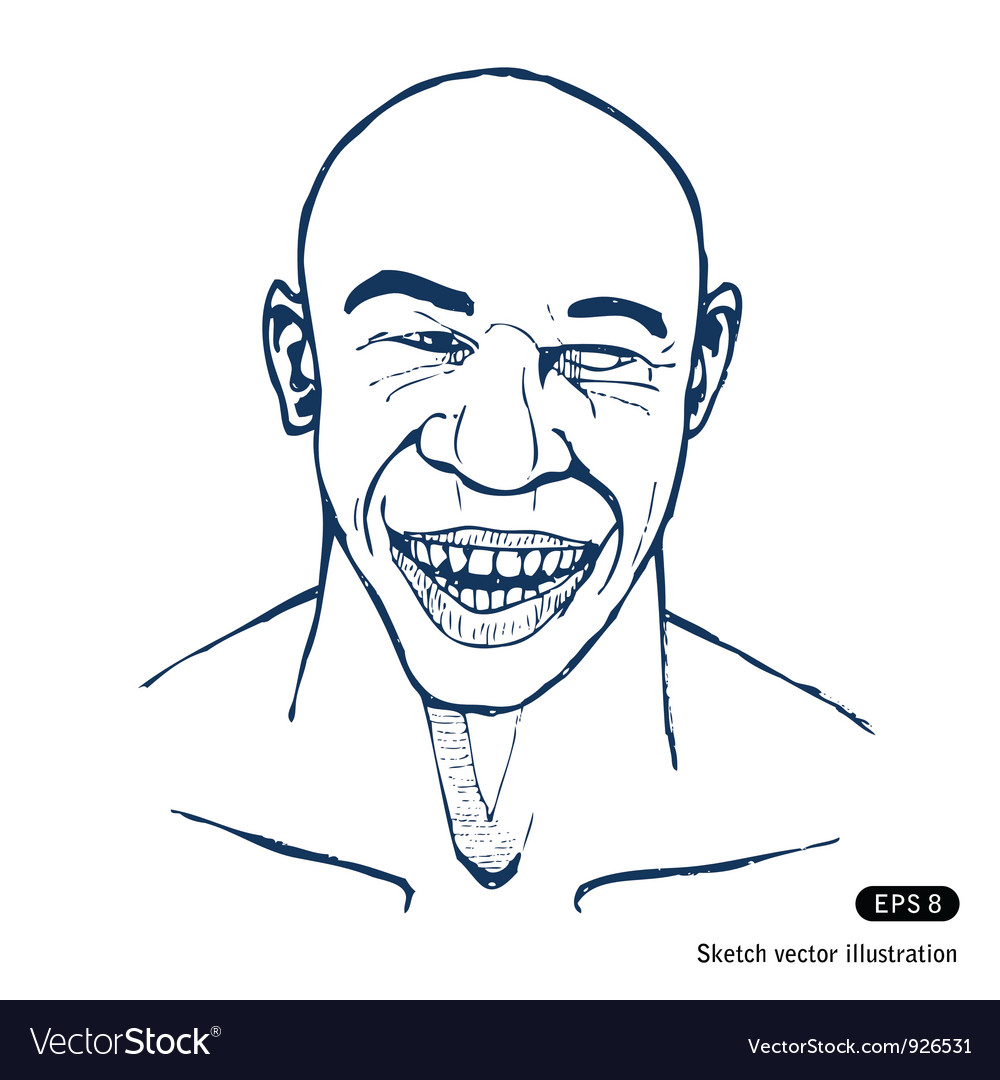 Smiling man vector | Price: 1 Credit (USD $1)
