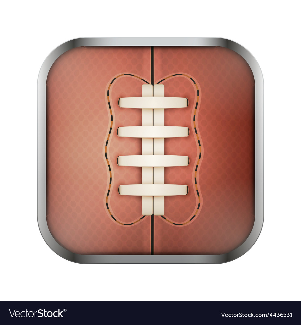 Square icon for rugby app or games vector | Price: 1 Credit (USD $1)