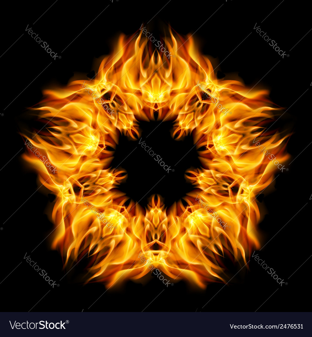 Star flame vector | Price: 1 Credit (USD $1)