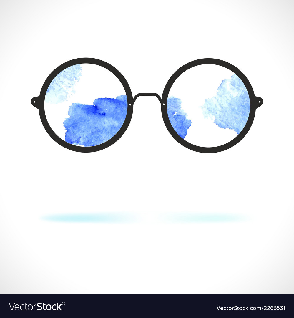 Sun glasses with reflection of clouds vector | Price: 1 Credit (USD $1)