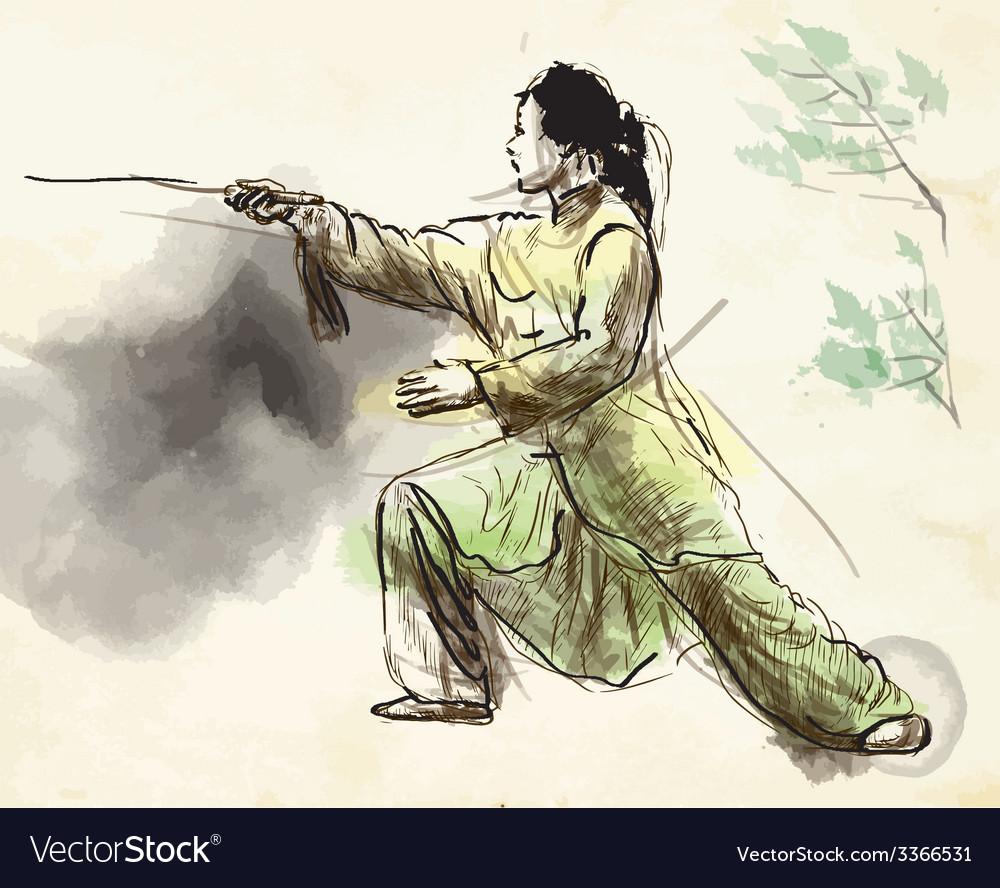Taiji tai chi an hand drawn converted into vector   Price: 1 Credit (USD $1)