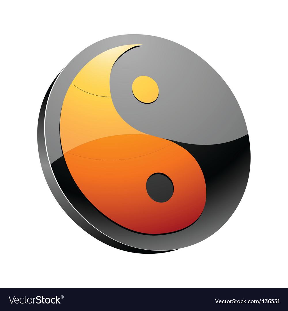 Yin-yang symbol vector | Price: 1 Credit (USD $1)