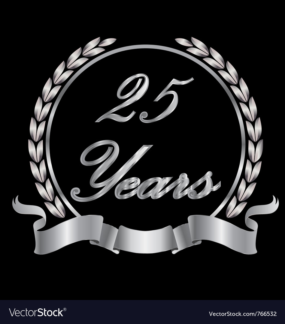25 years vector | Price: 1 Credit (USD $1)