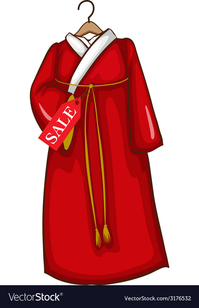 A simple sketch of a red asian dress vector | Price: 1 Credit (USD $1)