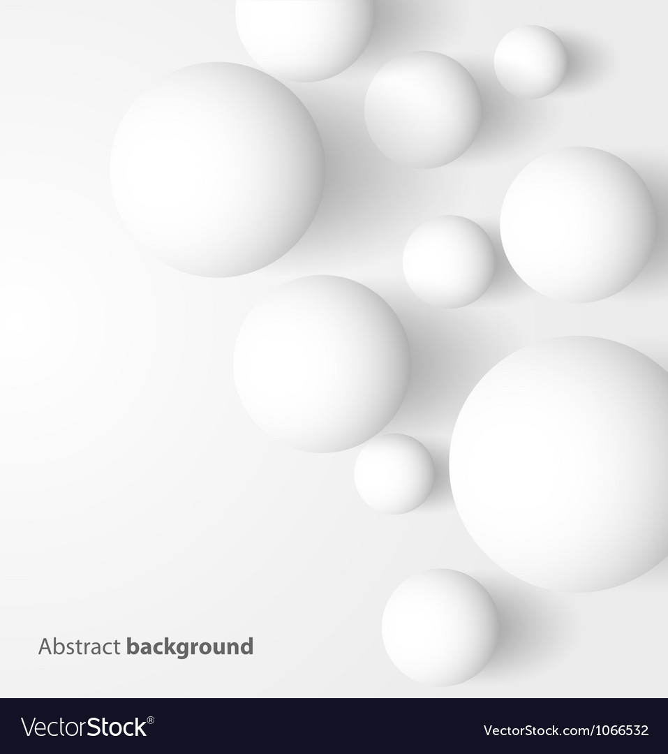 Abstract 3d white spheric background vector | Price: 1 Credit (USD $1)