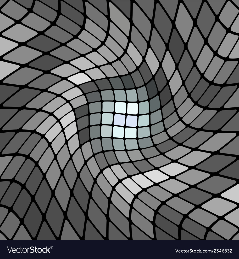 Abstract gray mosaic background vector