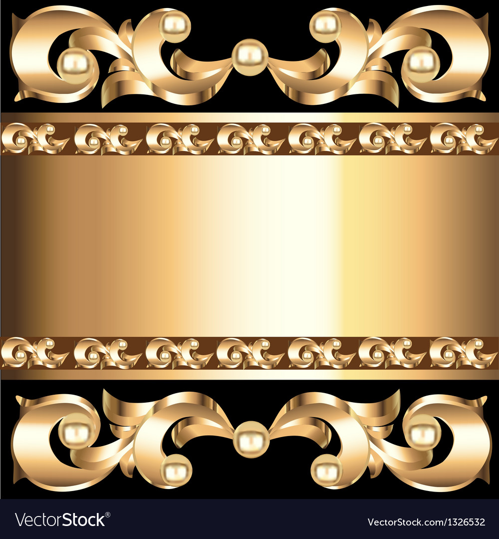 Background frame with vegetable voluminous golden vector | Price: 1 Credit (USD $1)