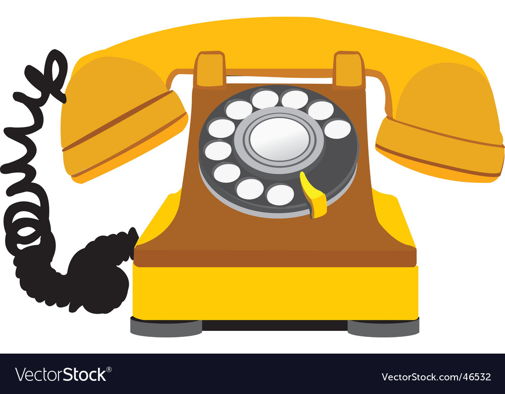 Home phone vector | Price: 1 Credit (USD $1)