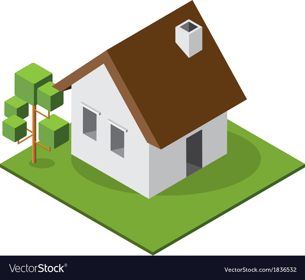 Isometric small house 380 vector | Price: 1 Credit (USD $1)