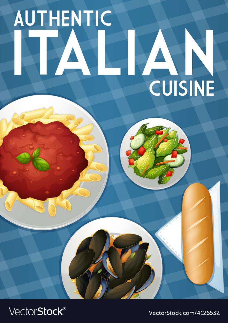 Italian food vector | Price: 1 Credit (USD $1)