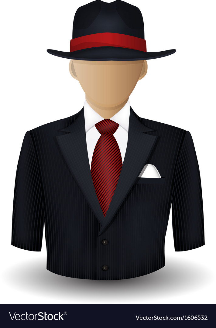 Mobster avatar vector | Price: 1 Credit (USD $1)