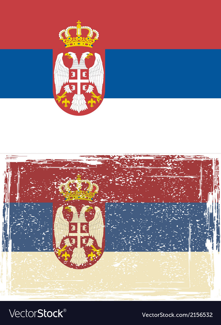 Serbian grunge flag vector | Price: 1 Credit (USD $1)