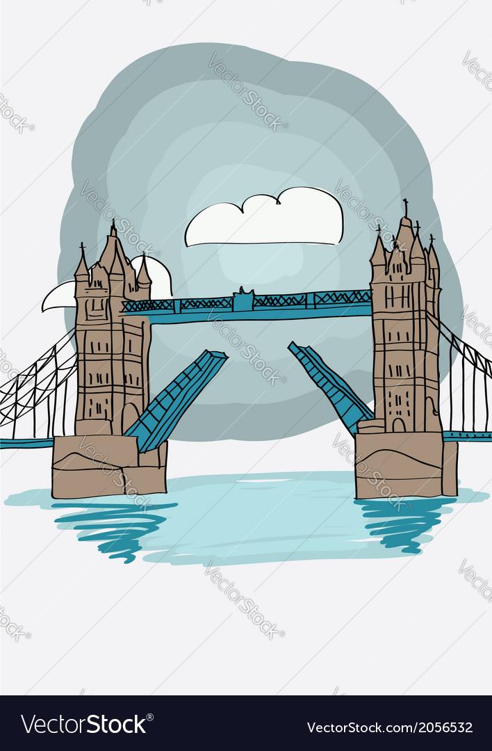 Tower bridge of london vector | Price: 1 Credit (USD $1)