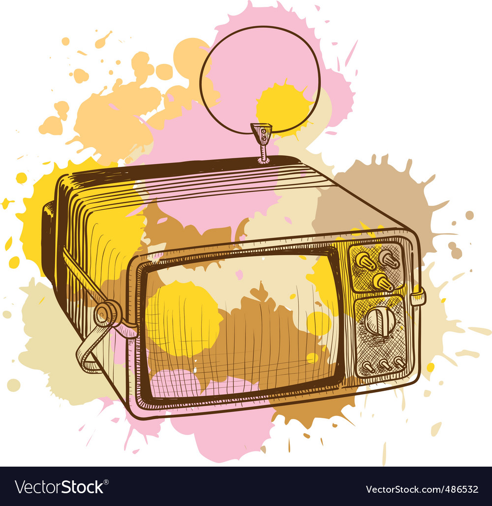 Vintage tv vector | Price: 3 Credit (USD $3)