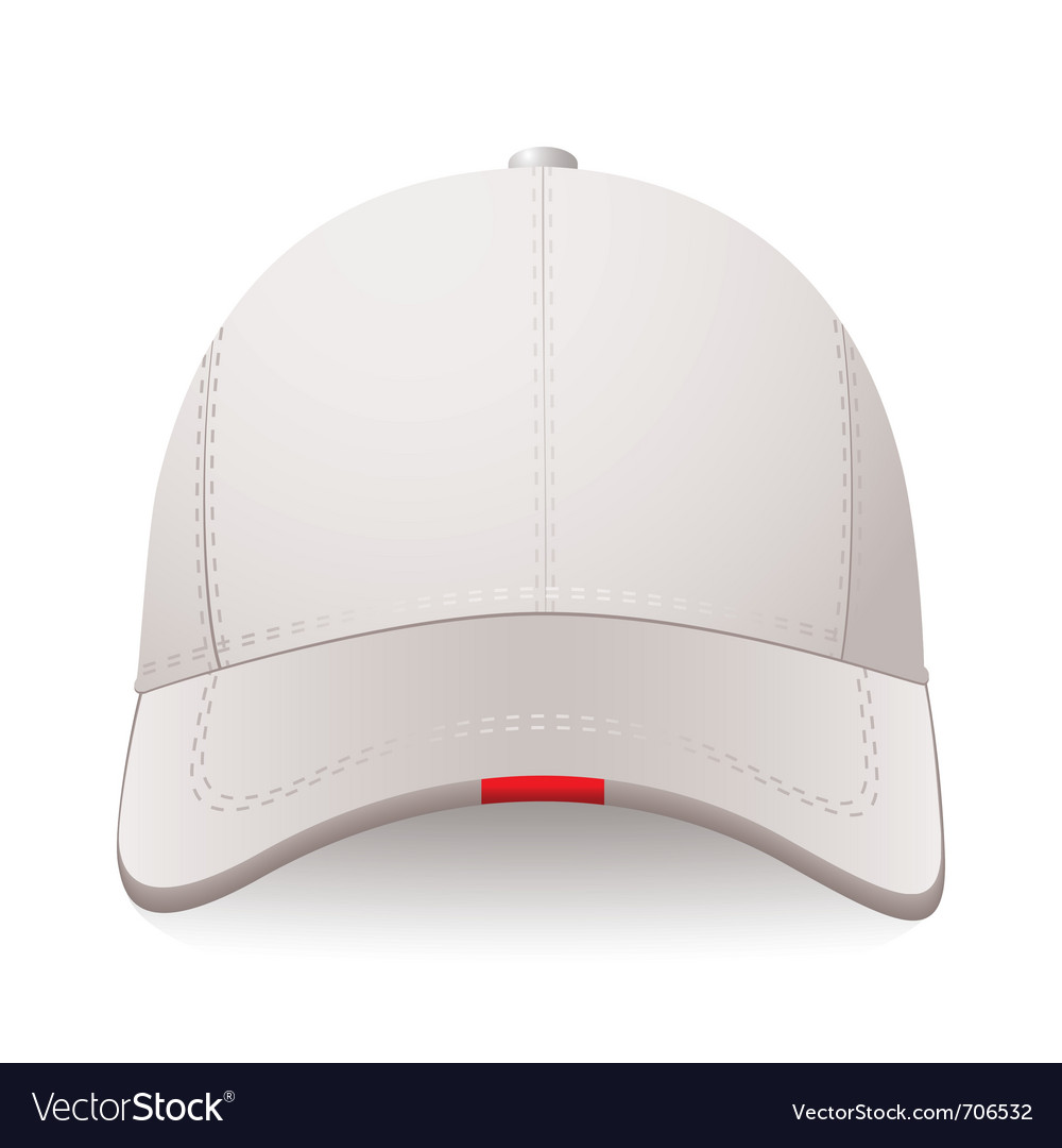 White sports cap with red label and room for your vector | Price: 1 Credit (USD $1)