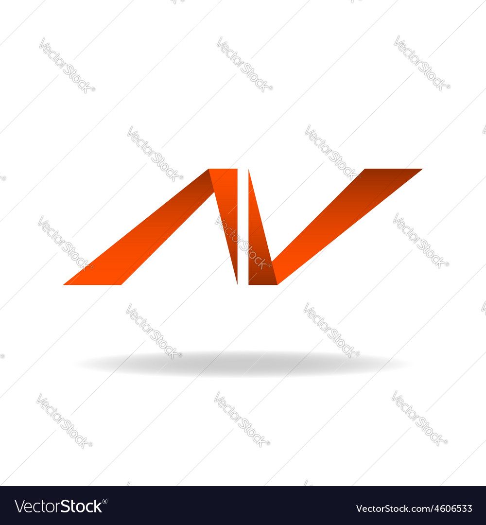Abstract letter n logo website site icon vector | Price: 1 Credit (USD $1)