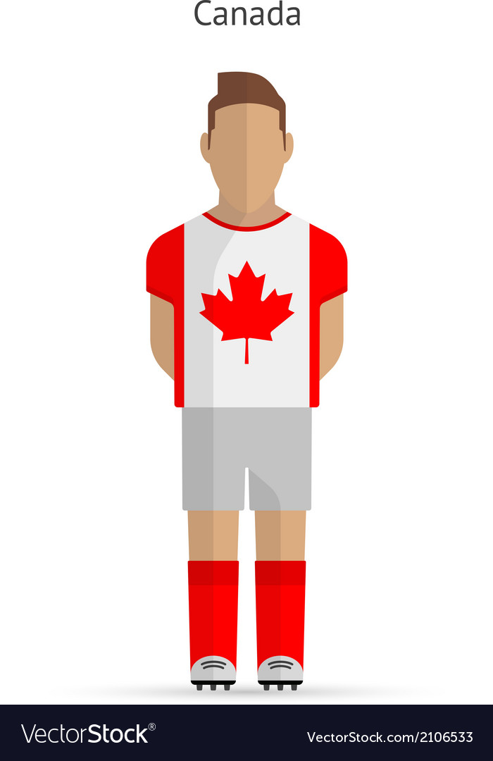 Canada football player soccer uniform vector | Price: 1 Credit (USD $1)