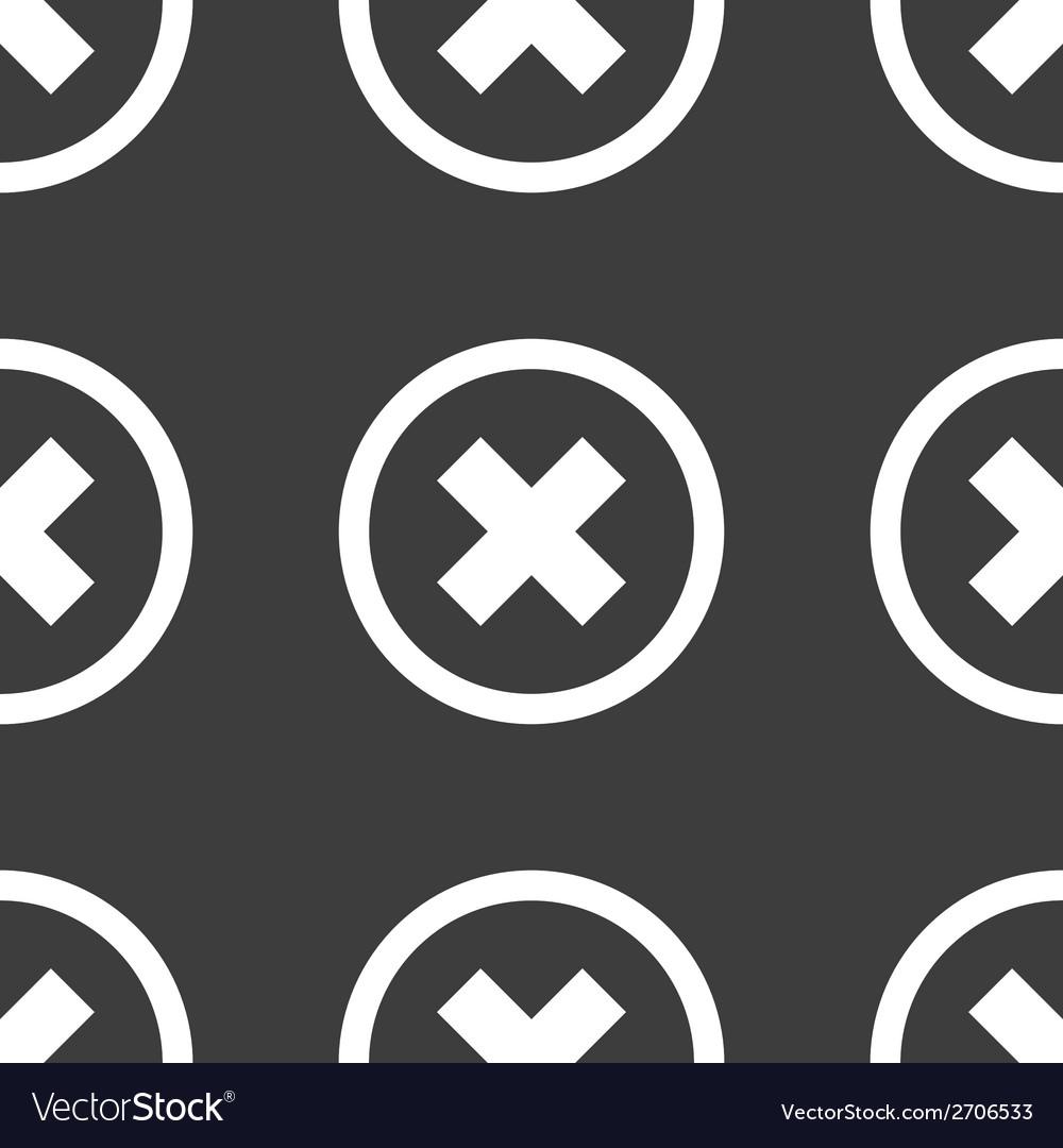 Cancel web icon flat design seamless pattern vector | Price: 1 Credit (USD $1)