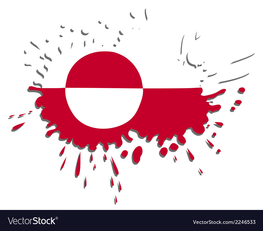 Flag of greenland as spot vector | Price: 1 Credit (USD $1)