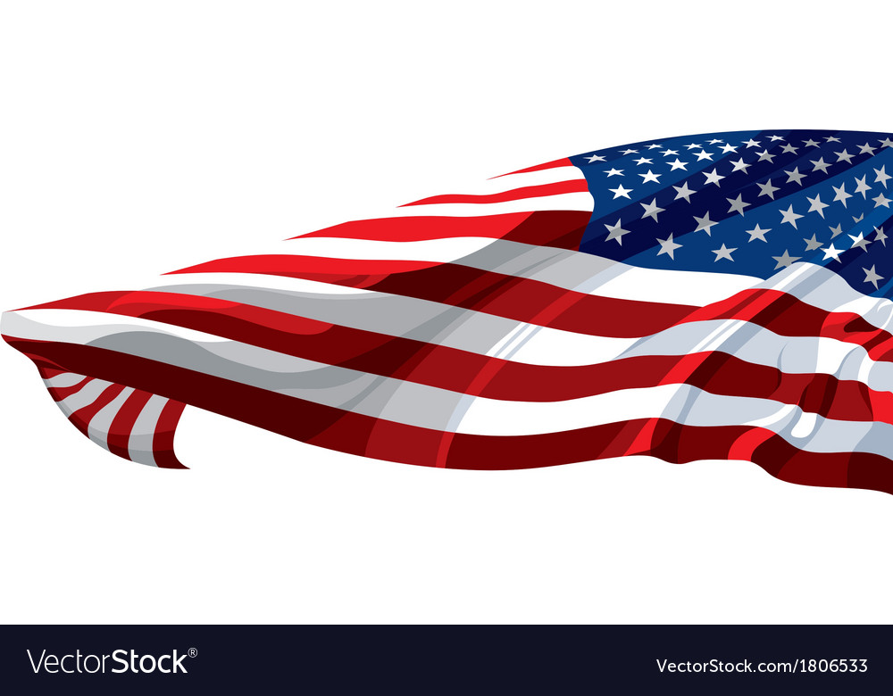 Flag of the united states of america vector | Price: 1 Credit (USD $1)
