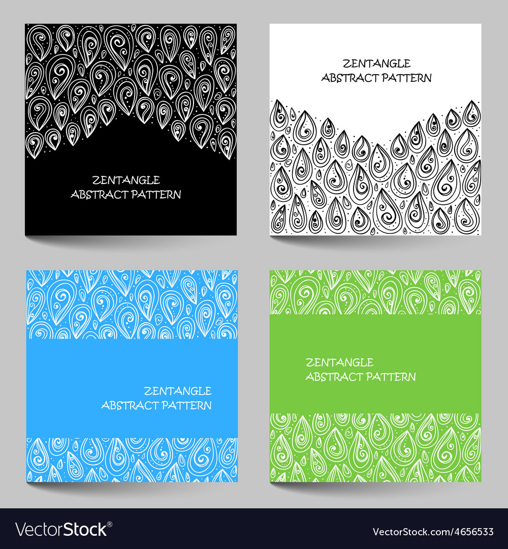 Hand drawn zentangle document template vector   Price: 1 Credit (USD $1)