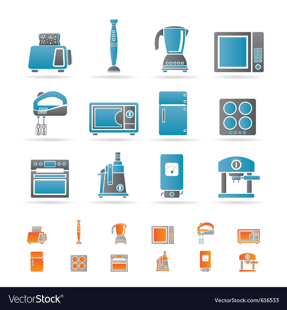 Kitchen and home equipment icons vector | Price: 1 Credit (USD $1)