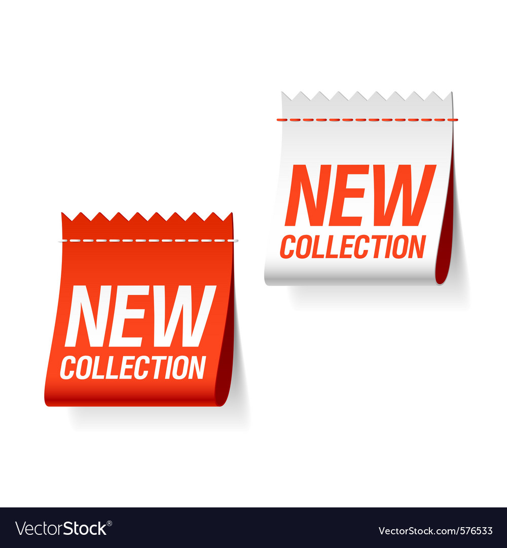 New collection labels vector | Price: 1 Credit (USD $1)