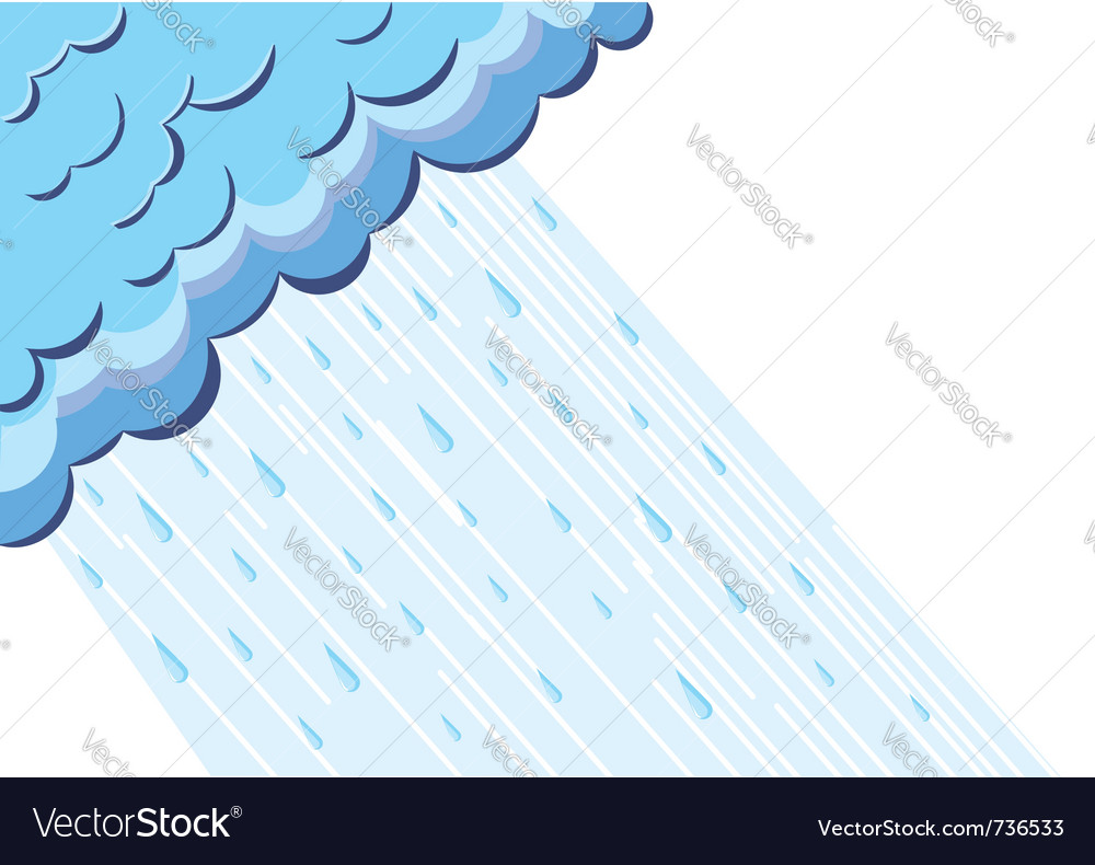 Of raining cloud blue sky vector | Price: 1 Credit (USD $1)